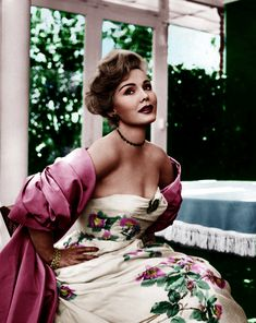 Zsa Zsa Gabor - great dress