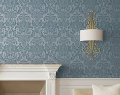 Isle of Palms Damask Wall Stencil for Easy by royaldesignstencils