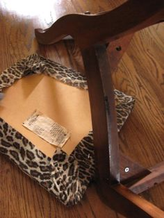 Stain an old chair, also tells how to patch scuffed up edges!