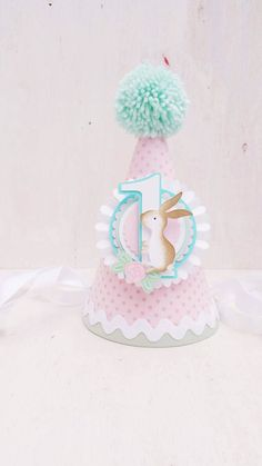 Some-bunny is One Party Hat | Easter Birthday Party | First Birthday | Flowers | Garden Party | Rose | Easter Bunny Pink Hat | Spring Party by CupcakeWishesStore on Etsy https://www.etsy.com/listing/503712530/some-bunny-is-one-party-hat-easter