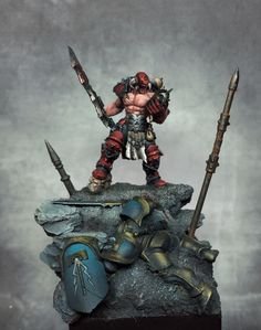 Warhammer Age of Sigmar Warhammer Art, Warhammer Models, Warhammer 40k Miniatures, Warhammer Fantasy, Fantasy Paintings, Mini Paintings, Cool Paintings, Fantasy Battle, Fantasy Warrior