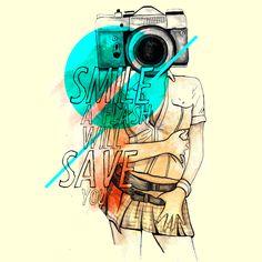 Camiseta 'Smile a flash will save you'. Clique na foto para poder comprar a sua!http://cami.st/p/1471