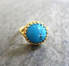 Turquoise Ring Adjustable Gold Gemstone Ring Silver Blue Exotic Victorian LOTR Lord of the Rings Statement Ring Bohemian Summer Fashion Gift