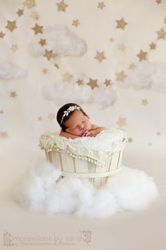 Twinkle Twinkle - Photography backdrop only available at Baby Dream Backdrops.