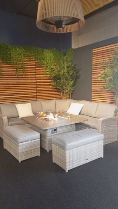 Carina Outdoor Corner Sofa Set is back! This set is a perfect centrepiece for intimate and larger gatherings throughout Resin Patio Furniture, Diy Garden Furniture, Outdoor Furniture Sets, Furniture Market, Patio Lounge Furniture, Contemporary Outdoor Furniture, Patio Furniture Makeover, Outdoor Sofa Sets, Fire Pit Furniture