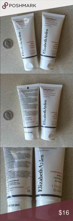 Visible Difference exfoliating cleanser MINI DUO Visible Difference MINI Skin Balancing Exfoliating Cleanser DUO by Elizabeth Arden,  1.7 fl oz each, total of 3.4 fl oz  (Retail $22.50 for 4.2 oz) ‼️ price is firm, bundle to save ‼️ NO BOX. Brand new & fresh item. Never opened.   This is a foaming cleanser and exfoliator in one for combination skin that gently lifts away impurities. Leaves skin feeling healthy and balanced. Clinically and dermatologist tested. Non-comedogenic.  Massage onto…