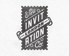 One of three logos for The Invitation Co, London by Kendrick Kidd. Typography Love, Typography Inspiration, Typography Letters, Graphic Design Typography, Graphic Design Inspiration, Brand Inspiration, Logo Branding, Branding Design, Logo Design