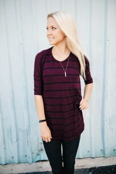 We love the simplicity of this top! Throw it on and go anywhere.