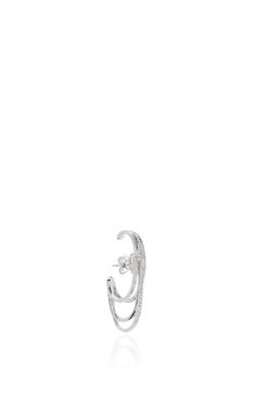 White Gold And Diamond Earring by JOELLE JEWELLERY Now Available on Moda Operandi
