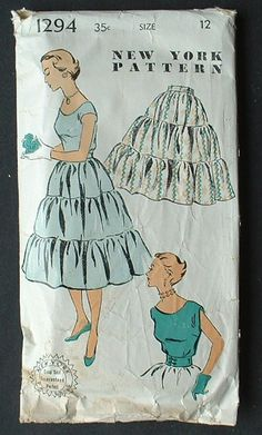 New York Pattern 1294: another 1940s tiered skirt, this one with a blouse