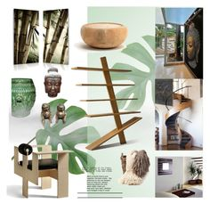 """""""eco-tropical #decor"""" by fl4u ❤ liked on Polyvore featuring interior, interiors, interior design, home, home decor, interior decorating, Emissary, Baxton Studio, Pure Lana and Riva 1920"""
