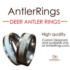 For the Man's Man, the Outdoors Man, who likes to Hunt and Fish. Surprise him with our original custom jewelry! He will never expect it. Deer Antler Rings for the Hunter in your life. These Custom Deer Antler Rings Available only at Antlerrings.com