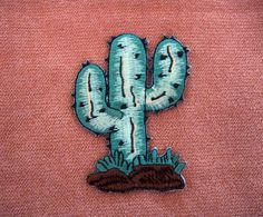 Cactus Tree Applique Embroidered Iron On Patch by MizCozy on Etsy