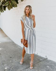 Lovely Dresses, Modest Dresses, Casual Dresses, Summer Dresses, Mode Outfits, Skirt Outfits, Midi Shirt Dress, Dress Up, Victoria Beckham