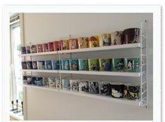 moomin mug showcase Mug Storage, Moomin Mugs, Mug Display, Adjustable Height Desk, Compact Living, Displaying Collections, Scandinavian Design, Timeless Design, Shelving