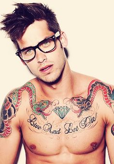Hot, sexy, men, guy, gay, muscle, body, cute, male, hunk, stud, tattoo, ink, glasses, piercing