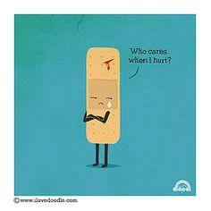 misunderstood band-aid by I love doodle