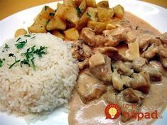 Carne a la Stragonoff Brazillian Food, Yummy Food, Tasty, Hungarian Recipes, Meat Recipes, Curry, Food And Drink, Meals, Lentils