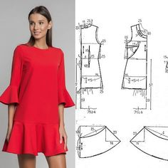 Dress Sewing Patterns, Clothing Patterns, Diy Clothes, Clothes For Women, Sewing Blouses, Embroidery On Clothes, Fashion Sewing, Fashion Fashion, Diy Dress