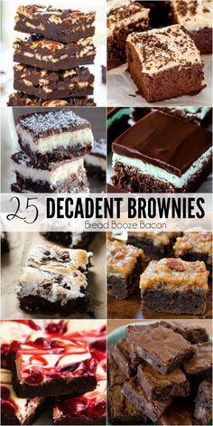 Best Dessert Recipes, Easy Desserts, Gourmet Recipes, Sweet Recipes, Baking Recipes, Delicious Desserts, Yummy Food, Bar Recipes, Decadent Brownie Recipe