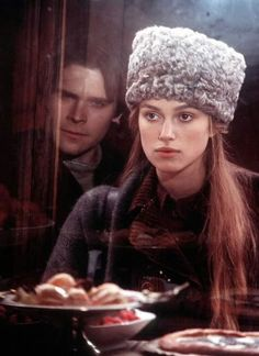 Doctor Zhivago - Keira Knightley years old when they filmed it) Keira Knightley, Keira Christina Knightley, Russian Hat, Russian Fashion, Russian Winter, Hans Matheson, Dr Zhivago, Doctor Zhivago, Movie Costumes