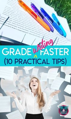 Overwhelmed by assessing student essays? Here are 10 PRACTICAL ways to grade writing faster. Writing Lessons, Teaching Writing, Essay Writing, College Teaching, Writing Strategies, Writing Process, Teaching Strategies, Writing Ideas, Teaching Tips