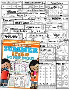 AWESOME!  A 110 page Summer Review packet that requires NO PREP!  Great for students leaving Kindergarten and entering 1st Grade!  Avoid the Summer Slide!