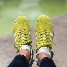 a6d923a2faf57 Adidas Gazelle - Lime White Gold Metallic available now in-store and online