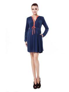 Flora Colorblock Tie Front Dress