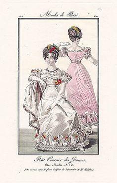 Petit Courrier des Dames 1823 Modes de Paris N°110