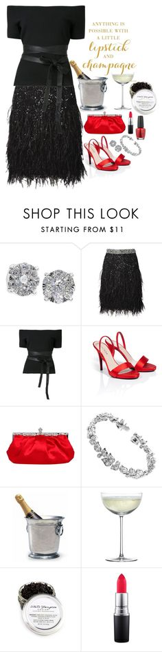 """""""Lipstick and Champagne"""" by dickensfan ❤ liked on Polyvore featuring Effy Jewelry, Matthew Williamson, Sachin + Babi, ESCADA, Cartier, Match, Crate and Barrel, MAC Cosmetics and OPI"""