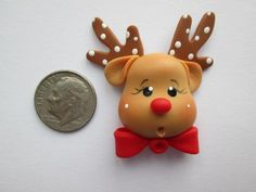 New Photographs reindeer clay ornaments Suggestions Needle Minder ~ Rudy Reindeer (Clay) Polymer Clay Ornaments, Polymer Clay Figures, Cute Polymer Clay, Cute Clay, Fimo Clay, Polymer Clay Projects, Polymer Clay Charms, Polymer Clay Creations, Clay Crafts