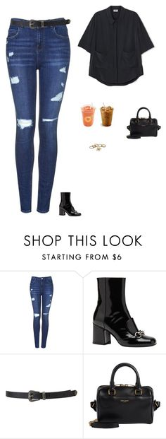 """""""Untitled #1560"""" by tayloremily218 on Polyvore featuring Topshop, Gucci, Forever 21 and Yves Saint Laurent"""