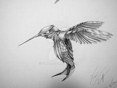 Earlier Clockwork Hummingbird by Steampunk Wings Tattoo, Steampunk Drawing, Steampunk Bird, Leo Lion Tattoos, Body Art Tattoos, Bird Drawings, Animal Drawings, Tattoo Sketches, Drawing Sketches