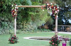 What about this Arch with pomegranate? The red colour indicates the passion between the couple! Wedding Videos, Post Wedding, Wedding Arches, Wedding Flowers, Start Tv, Corfu Holidays, Wedding Window, Flower Decorations, Table Decorations
