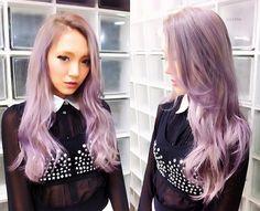 ayano sasaki #lavender #hair