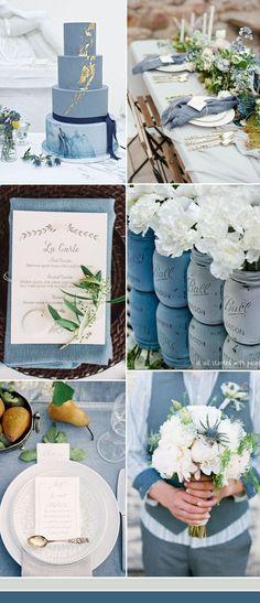 the best dusty blue wedding color ideas #WeddingIdeasElegant