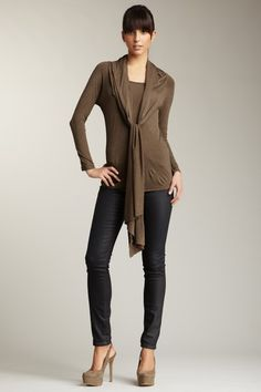 Long Sleeve Top with Attached Shawl by Kische, 19$,  on @HauteLook *100% rayon