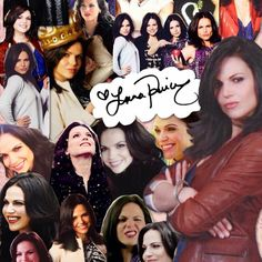Awesome collage of awesome Lana signed by awesome Lana