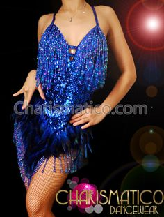 Charismatico Dancewear Store - Blue sequin sexy feather Sequin DIVA Sequin Showgirl Dress, $140.00 (http://www.charismatico-dancewear.com/products/Blue-sequin-sexy-feather-Sequin-DIVA-Sequin-Showgirl-Dress.html)