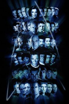 Love this.  #1 they did it chronologically by Star Trek time not by air date time. #2 they lined up the reboot cast with their appropriate original casted character.  LOVE