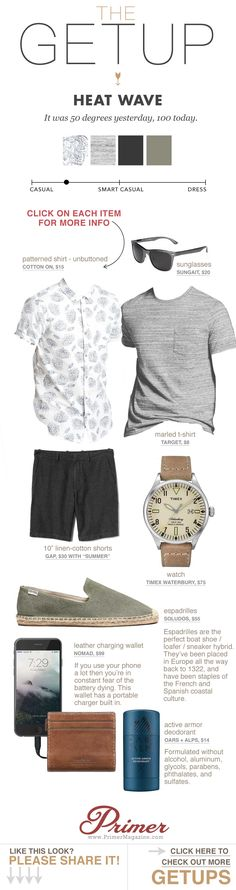 men's summer style - black shorts patterned short sleeve shirt espadrilles