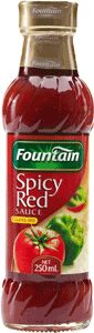 ... tomato sauce with Fountain Spicy Red Sauce on meat pies or sausage