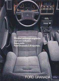 Ford Granada, Ford Motorsport, Ford Sierra, Car Interior Design, Ford Escort, Dashboards, Retro Cars, Race Day, Ad Design