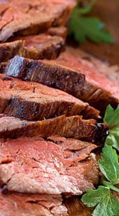 Paula Deen's Bourbon Beef Tenderloin Recipe - Food to Try - Beef Tenderloin Recipes, Beef Tenderloin Roast, Roast Recipes, Steak Recipes, Cooking Recipes, Game Recipes, Pork Roast, Roast Gravy, Bourbon Recipes