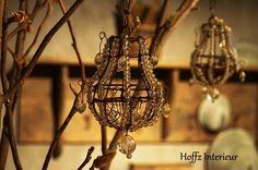 """De mooie """"old look kristallen"""" van Hoffz Interieur. Mooi voor in de kerstboom, een kastanje tak of gedecoreerd in een schaal."""