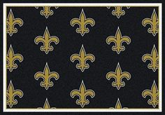 New Orleans Saints Logo Repeat Rug in New Orleans Saints from ACWG