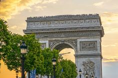 Arc de Tromphe Sunset by James Udall