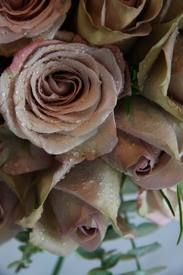 The Flower Magician: Wedding Bouquet of Metalina & Amnesia Roses Rose Wedding Bouquet, Wedding Flowers, Bridal Bouquets, Amnesia Rose, Mother Of Pearl Rose, Nothing But Flowers, Blush Color Palette, Blush Bridal Showers, Camouflage Wedding