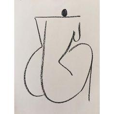 Untitled by Ana Kras Life Drawing, Painting & Drawing, Art Sketches, Art Drawings, Pencil Drawings, Ana Kras, Art Inspo, Line Art, Modern Art